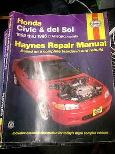 Honda Civic and Del Sol Haynes Repair Manual