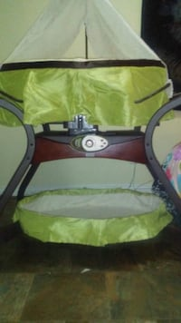 baby's black and green travel cot Edmonton, T5T 2J9