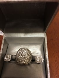 Silver womens ring with matching earing set.  Woodbridge, 22191