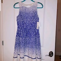 NWT. Beautiful Blue Giraffe Print Dress Rockville, 20850