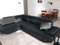 Black leather sectional couch w/w.o coffee and end tables