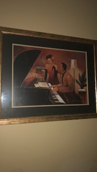 brown wooden framed painting of woman Graham, 27253