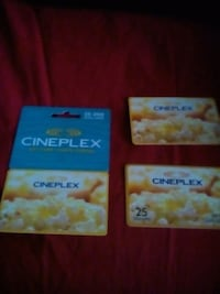 Movie gift cards 75 bucks for all three Edmonton, T5X 0G2