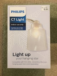 Philips C7 light with clear cover indoor holidays year round Fairfax, 22033