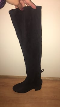 black suede thigh-high boot Seattle, 98125