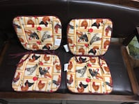 Four Rooster seat cushions unused Surrey, V3V 7L9