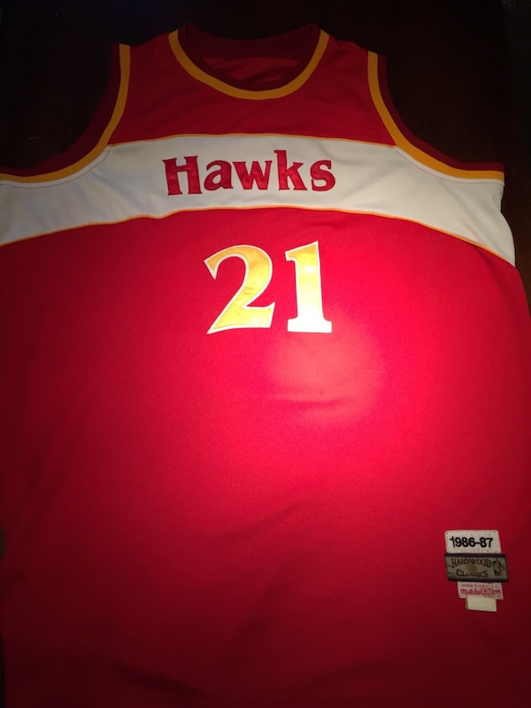5e8ecfd0a91f Dominique Wilkins Jersey 1996-97 Mitchell   Ness Throwback