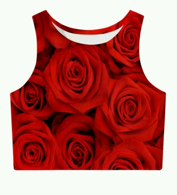 Beautiful Rose Crop Top NEW sz S-L