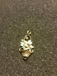 Gold charm with gemstones Rutherford, 07070