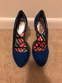 Blue Suede Stilettos size 8.5 (Only worn once) Upper Marlboro, 20772