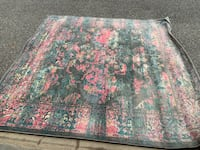 Fuschia/Turquoise 8ft x 8ft Rug Washington