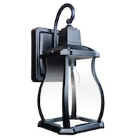 Home Decorators Collection Northampton 1-Light Black Outdoor Wall Lantern  new  Richardson