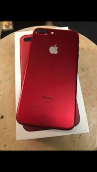 Product Red iPhone 7 Plus with box