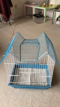 Blue and white metal birdcage Negotiable