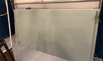 Sheetrock (8 pieces, 4x8 feet. Green - can use for bathrooms)