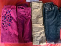 Assorted kids girls pants size 10