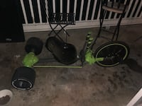 Green machine and bicycle with front and back pegs