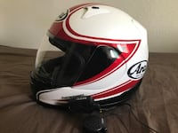 white and red full-face helmet Beaverton, 97008