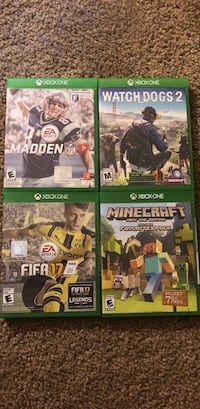 four Xbox One game cases Redding, 96003