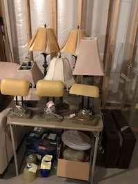 Lot of variety of lamps and light fixtures