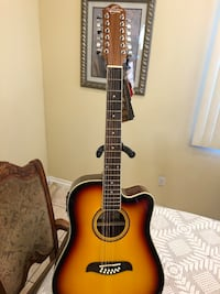 Oscar Schmidt 12 string electric acoustic guitar  Cudahy, 90201