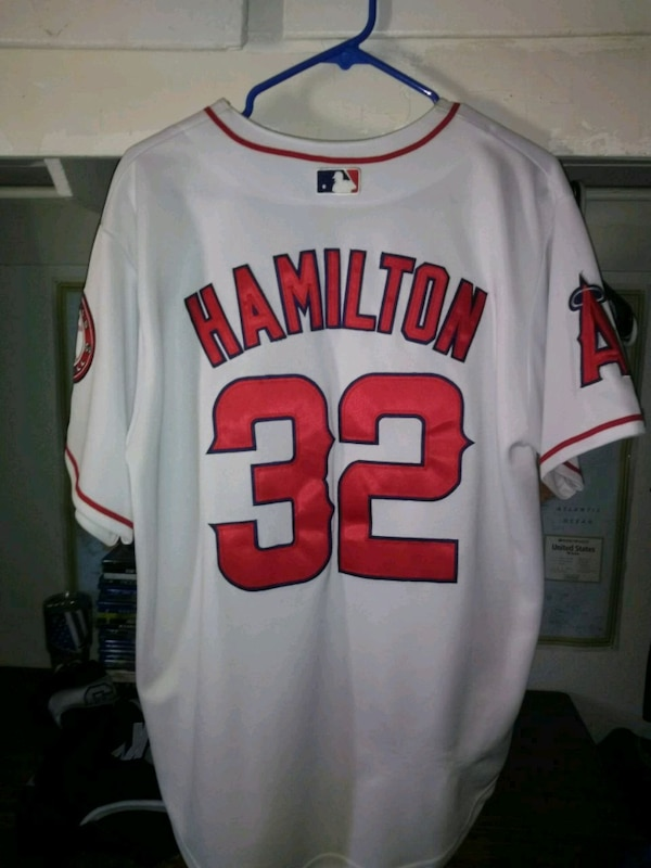 e8b0de5d6 Used white and red Chicago Bulls 23 jersey shirt for sale in ...