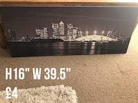 height 16 inch width 39.5 inch grayscale photo of high rise buildings nearby stadium nearby body of water wall decor Nottingham, NG1