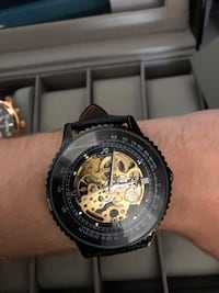 Skeletonized mechanical watch 3485 km
