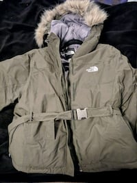 Womens Olive North Face coat 53 km