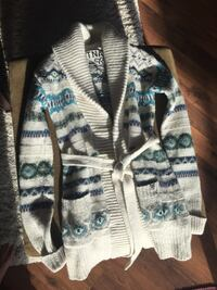 white and black knitted cardigan Edmonton, T5X 2E1