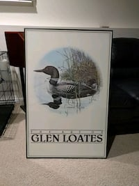 Common loon lithograph. Artist glen loates Kitchener