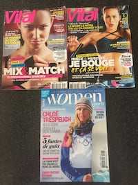 Lot 3 magasines de Sport féminin : Vital + Women Sports Freneuse, 78840