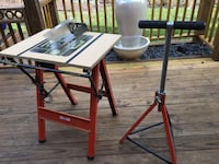 Hirsch folding work table and roller stand  Silver Spring, 20902