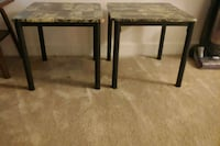 NEED GONE ASAP! Two tan and green side tables Greenbelt, 20770