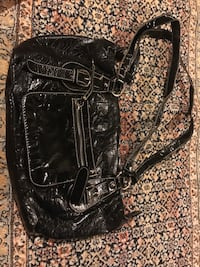 black leather 2-way bag Oakville