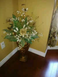 Gold vase floral arrangement  Kitchener, N2K 4J9