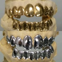14k gold plated over silver grillz  Tampa, 33617