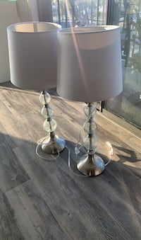 Crystal and silver lamps