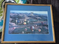 Framed and matted hot air balloon picture Reno, 89503