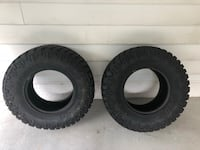 two black auto tire set Alexandria, 22309