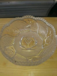 clear cut glass bowl with lid San Marcos, 92078