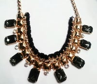 Gold-colored and black beaded necklace Los Angeles, 90012