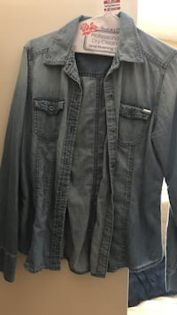 gray button-up long-sleeved shirt Los Angeles, 90042