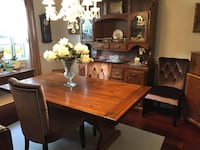 Dining Set with Hutch and chairs Hamilton