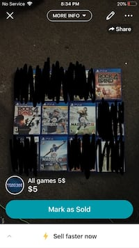 All games 5$ each North Baltimore, 45872