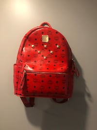 Red mcm backpack Whitby