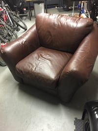 Brown leather chair Toronto, M8W 2N6