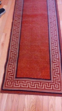 red and white area rug