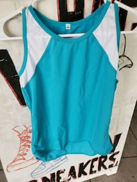 teal and white tank top Paramount, 90723