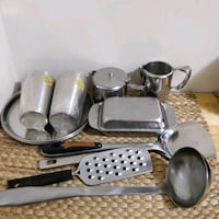 Lot of Stainless steel kitchen items  Toronto, M2J 2C4